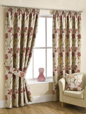 Lola Pencil Pleat Curtains : Chintz, 168x183cm