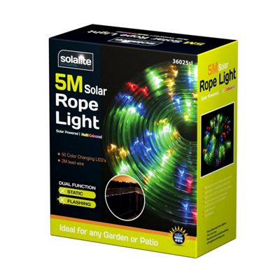 Buy 50 led solar powered 5m rope light multi coloured from our solar 50 led solar powered 5m rope light multi coloured aloadofball Image collections