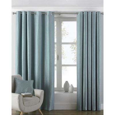 Riva Home Atlantic Duck Egg Eyelet Curtains - 46x54 Inches (117x137cm)