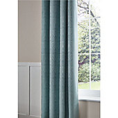 Catherine Lansfield Ornate Jacquard 66x72 Inch Curtains - Duck Egg