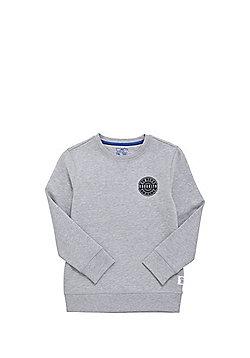 F&F Brooklyn Patch Sweatshirt with As New Technology - Grey
