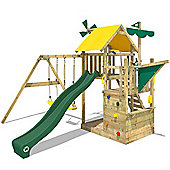 Climbing Frame Wickey Smart Sail Play Center With Green Slide