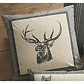 Dreams n Drapes Connolly Check Charcoal Cushion Cover - 43x43cm