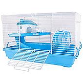ZD Pets Happy Hamster Blue Activity Cage