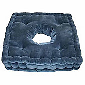 Homescapes Cotton Comfort Armchair Booster Cushion Navy Blue