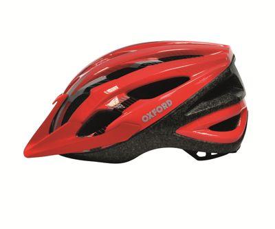 Oxford 590-F18L1 Cyclone Bike Bicycle Cycle Helmet Red Black Large Xlarge 590-F18L1