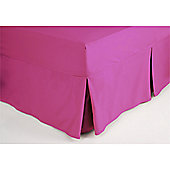 Belledorm 200 Thread Count Polycotton Fitted Sheet Valance - Fuchsia