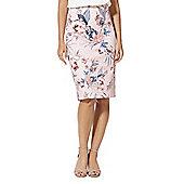 F&F Floral Print Pencil Skirt - Pink & Multi