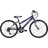 "Freespirit Trouble 24"" Wheel Junior Mountain Bike Purple"