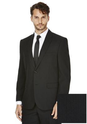 F&F Narrow Stripe Regular Fit Suit Jacket 46 Chest regular length Black