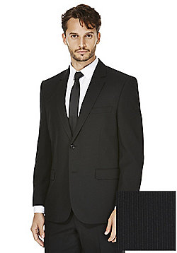 F&F Narrow Stripe Regular Fit Suit Jacket - Black