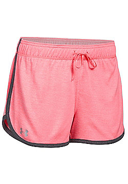 Under Armour Tech Twist Womens Exercise Fitness Short - Light pink