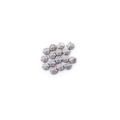 Craft Factory Metal Casting Beads pk15 8mm Rose Silver