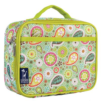 Kids' Lunch Box- Green Paisley
