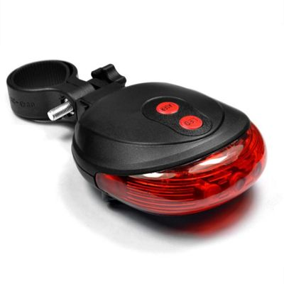 Bike Laser Lane Marker & 5 LED Tail Light