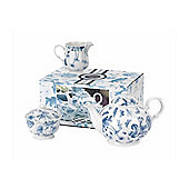 Portmeirion Botanic Blue 3 Piece Tea Set