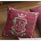Dreams n Drapes Tatton Patchwork Cushion Cover - Red 43x43cm