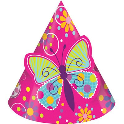 Butterfly Sparkle Cone Hats with Pop-Out Butterfly