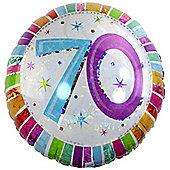 Radiant 70th Birthday Balloon - 18 inch Foil