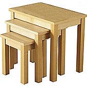 Nest of tables home furniture tesco direct tesco valufurniture oakleigh nest of 3 tables natural oak veneer watchthetrailerfo