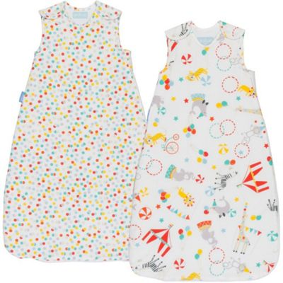 Grobag Twin Pack Roll Up Day & Night Sleeping Bags (18-36 Months)