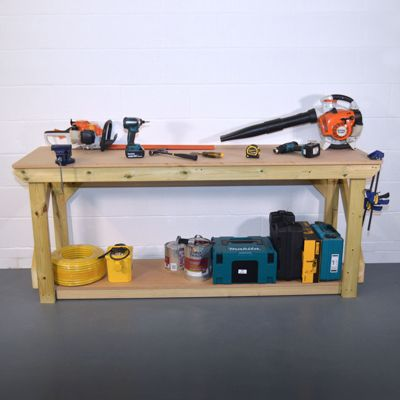 MDF Wooden Work Bench - Pressure Treated - 7ft