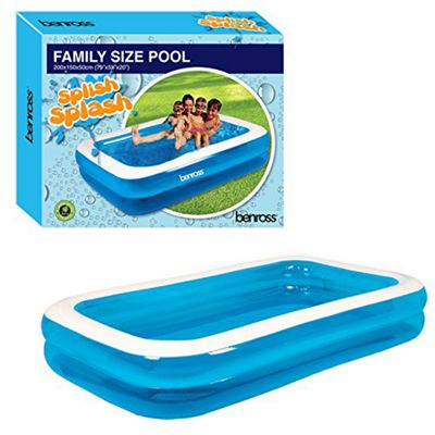 Gardenkraft Rectangular Paddling Pool Family Size 79