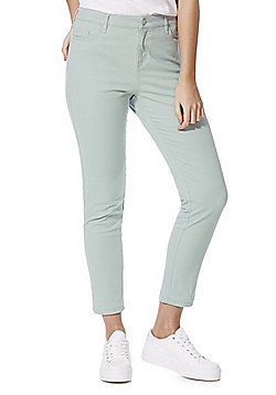 F&F Ankle Grazer Mid Rise Skinny Jeans - Mint green