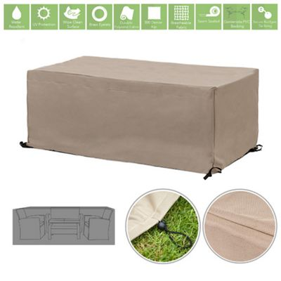 Stone Water Resistant Outdoor Furniture Cover Protector for 8 Seater Garden Dining Set
