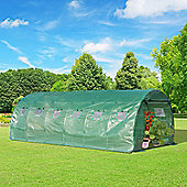 Outsunny Greenhouse Polytunnel Outdoor Walk-in Shed Growing Plant Steel (6 x 3m)