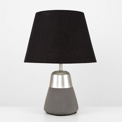 Pestle 45cm Table Lamp - Brushed Chrome & Black