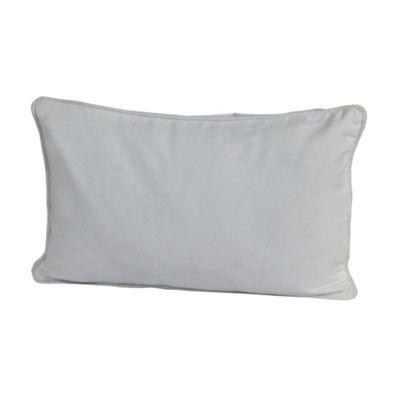 Homescapes Cotton Plain Grey Cushion Cover, 33 x 45 cm