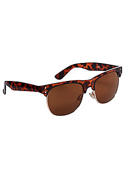 F&F Tortoiseshell-Effect Sunglasses One size Brown