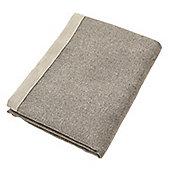 McAlister Charcoal Grey Herringbone Throw - 130x200cm