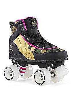 Rio Roller Camo Ltd Edition Quad Roller Skates - Green