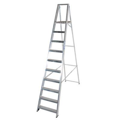 TB Davies Industrial Aluminium 10 Tread Platform Step Ladder