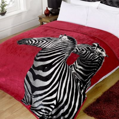 Dreamscene Zebra Animal Print Faux Fur Blanket Throw, 150 x 200 cm