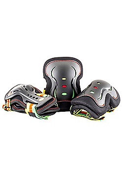 SFR Rio Roller Essential Triple Padset - Guava - Large (age 9-12)