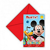 Mickey Mouose Playful Clubhouse 6 Pack Party Invitations Accessories