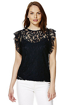 Vero Moda Lace Top - Navy