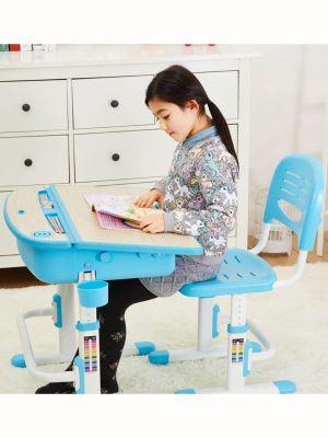 Leomark Ergonomic Desk and Chair - Blue