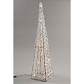 LED Christmas Outdoor Pyramid - 120cm - Warm White