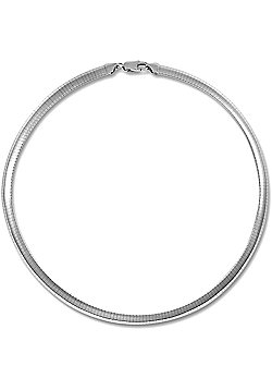 Jewelco London Rhodium Coated Sterling Silver Tennis Necklace