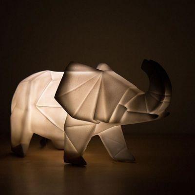Origami Elephant Lamp