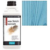 Polyvine Wax Finish Varnish - Blue - 500ML