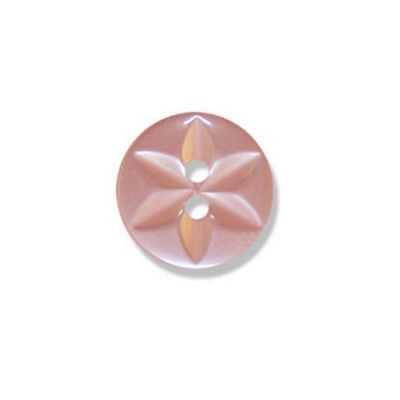 Impex Polyester Star Buttons Pink 10mm 10pk