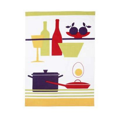 Rushbrookes Paintbox Saucepan Tea Towel
