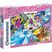 Disney Princesses - Rapunzel Cinderella Belle and Jasmine - 104 Pieces Puzzle