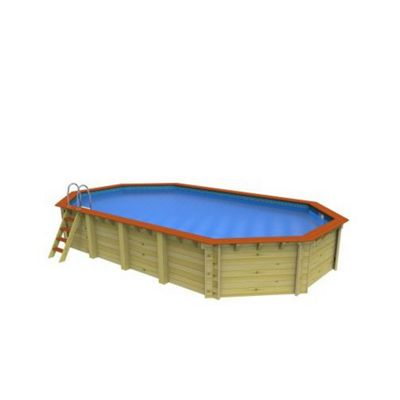 Plastica Stretched Octagonal Wooden Pool 8.1m x 4.6m Westminster