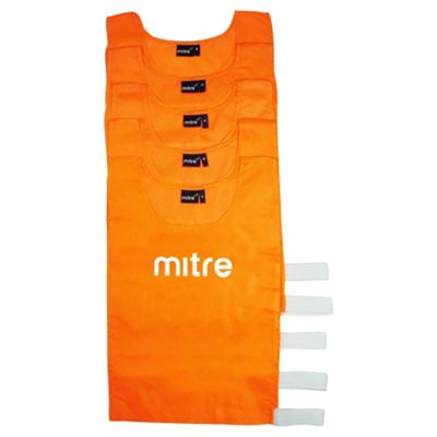 Mitre 5 Pack High-Vis Bibs, Junior